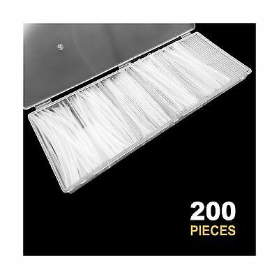 200pcs Clear Heat Shrink Tubing Sopoby Wire Wrap Cable Sleeve T... Free Shipping