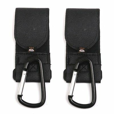 Buggy Clips Baby Pram Pushchair Strollers Hooks Durable Non Slip Black 2 Pcs New