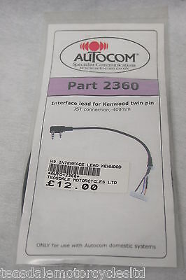 Autocom - Part# 2360 - Interface Lead For Kenwood Twin Pin. Jst Connection.