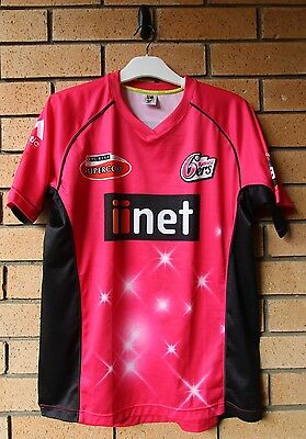 SYDNEY SIXERS 6ers BBL MEN'S CRICKET JERSEY MAJESTIC LARGE