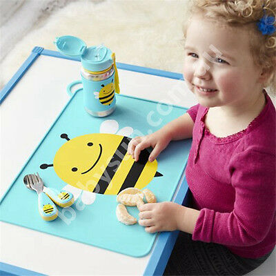 Baby Silicone Skip Hop Animal Theme Foldable  Place mat Non Slip Food Mat K10