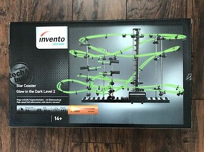 INVENTO Star Coaster Glow In The Dark Level 2 Marble Run Beginner Tech And Build