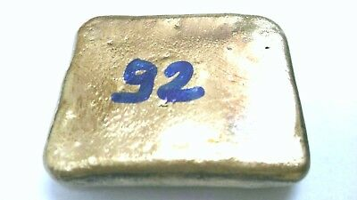 92 GRAM  gold bar for recovery .