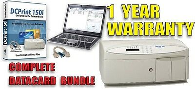 FREE OVERNIGHT SHIPPING- Datacard 150i ID Credit Card Embosser + COMPLETE BUNDLE