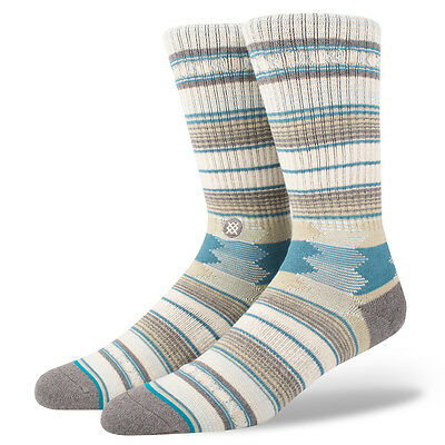 STANCE SOCKS NEW Mens Blue Stance Guadalupe Socks - Taupe BNWT