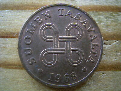 1968 Finland  1 Pennia Coin Collectable