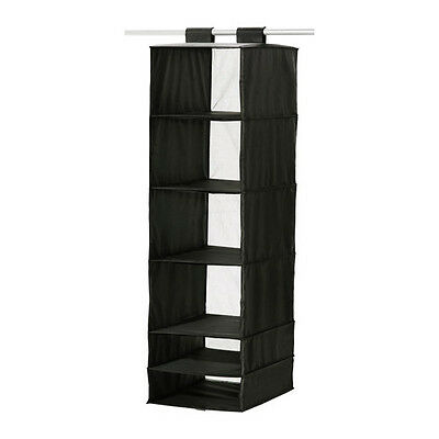 Hanging Storage 6 Compartments Ikea Clothes Wardrobe Closet Organiser Shelf
