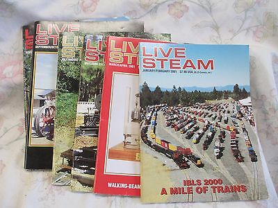 Live Steam magazine 2001 year