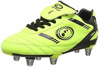 Optimum Tribal, Scarpe da Rugby bambini, Giallo (Yellow (Yellow/Black)), (T6P)