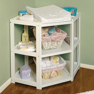 Baby Furniture Changing Table Corner Daycare Diaper Shelves Storage Nursery Sale