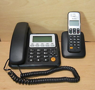 Binatone Concept Combo 3505 Corded & Cordless House Phone Home Telephone Twin UB