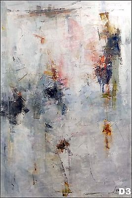 "72 x 48"" Size, Rare Huge Original Abstract Painting Artist Signed Oil On Canvas"