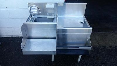 Glastender BSA-18 Underbar Blender Station with dump sink+DBA-18 Drainboard