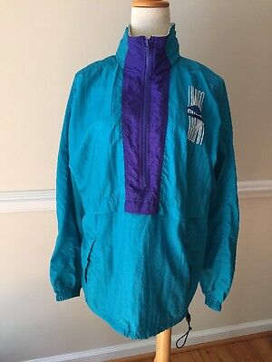 Umbro Med Turquoise/Purple Track Suit Top Womens Vtg Mexico Made