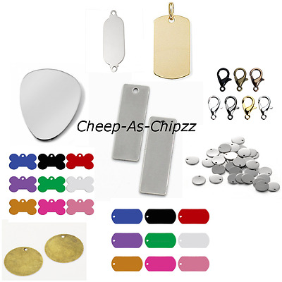 Stamping Engraving Metal Tags Blanks Findings Dog Tags Pet Tags Crafts Jewellery