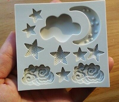 star / moon / cloud shape silicone mold, DIY cake decoration tools, cooking mold