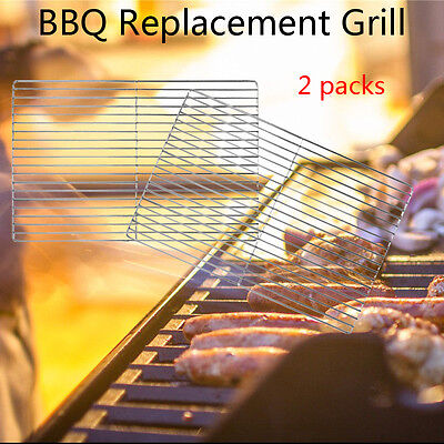 2x HEAVY DUTY STAINLESS STEEL DIY BRICK BBQ REPLACEMENT COOKING GRILL