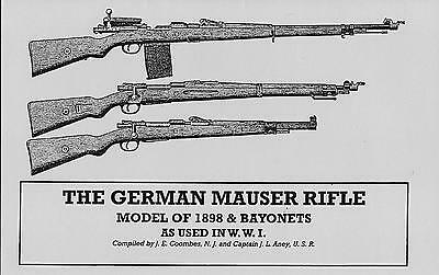GERMAN MAUSER RIFLE, MODEL of 1898 & BAYONETS USED IN WWI Reprint