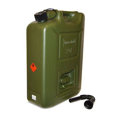Heavy Duty 20 Litre Plastic Petrol Jerry Can Fuel Container Tank with Spout