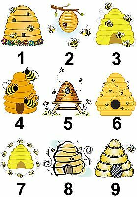 Bee Hive Honey Large Sticky White Paper Stickers Labels NEW