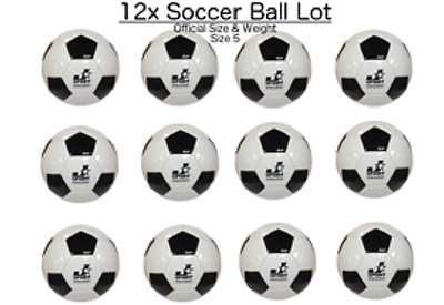 (Lot of 12x) - Soccer Ball Size #5 - indoor/outdoor - bulk wholesale