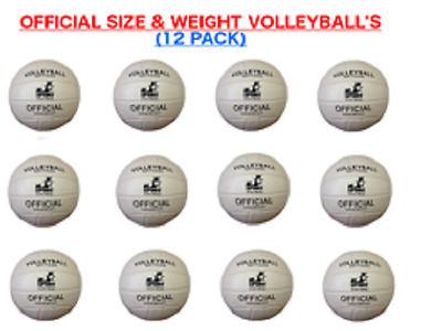 (Lot of 12X) Volleyballs Official size soft touch leather bulk wholesale lot