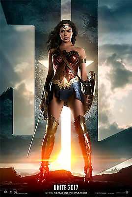 "wonder woman 2017 : Movie banner : 27"" X 40"" Top Quality VINYL Poster. A"