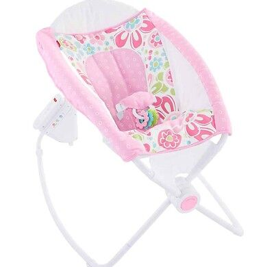 New Fisher Price Auto Rock N Play Replacement Cover Seat Pad Girly Pink New!