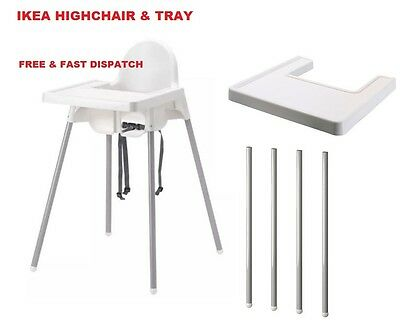 Ikea Highchair With Safety Straps & Matching Tray Ikea Antilop Brand New
