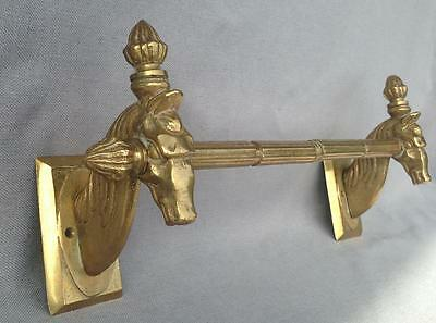 Big antique french towel holder made of bronze mid-1900's Empire style horses