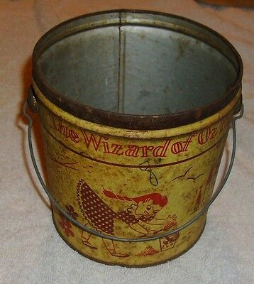 Vintage Swift's Swift Peanut Butter Pail Tin Can Wizard Of Oz