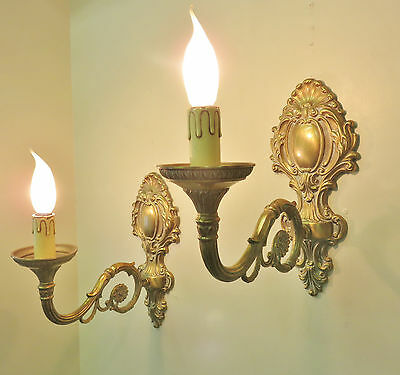 Superb Sconces Rococo Wall Lights Chateau Style Large Size Bronze Appliques