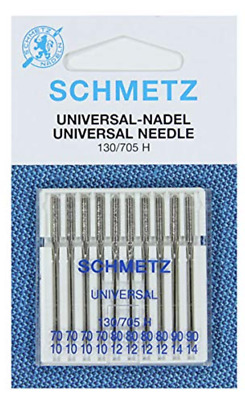Schmetz Assorted Sewing Machine Sharp Pointed Needle 10 Needle Packet 70/90 New