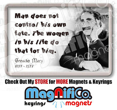 Groucho Marx Quotes Fridge Magnet Stocking Filler For