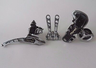 *Vintage 1970s HURET Success Titanium front & rear derailleur gear shifters set*