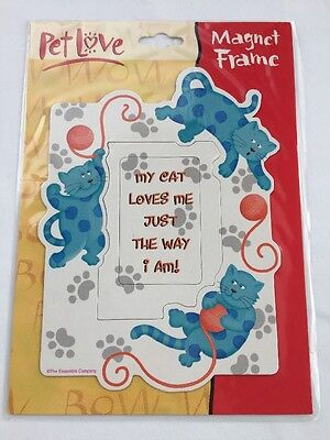 Pet Love Cat Lover Magnet Frame Ensemble By Hallmark NEW OLD STOCK
