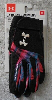 Under Armour Women's Radar III Softball Gloves Color Pacific/Black Size XL New