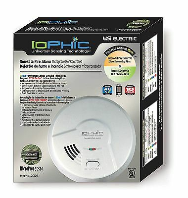USI Electric Iophic Hardwired 2-in-1 Universal Smoke Sensing Alarm (MDS107) (I)