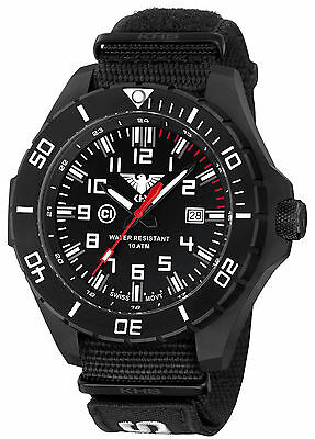 KHS Tactical Watches Infantry Men's Military Watch Band black Swiss Movement C1