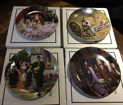 """4 Konigszelt Bayern """"Grimm's Fairy Tales"""" Collector Plates by Charles Gehm"""
