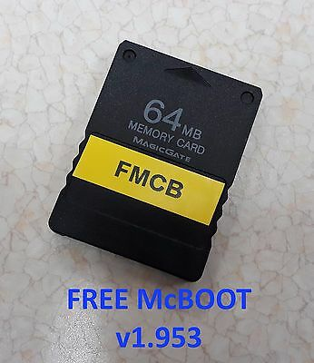 NEW 64MB PS2 Memory Card with instaled Free McBoot 1.953 FMCB Region Free