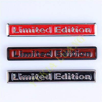 2x Universal 3D Alloy Limited Edition Car Badge Sticker Motorcycle Emblem Decal
