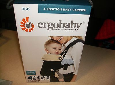 ErgoBaby  4 Position 360  Baby Carrier ~*BLACK and CAMEL