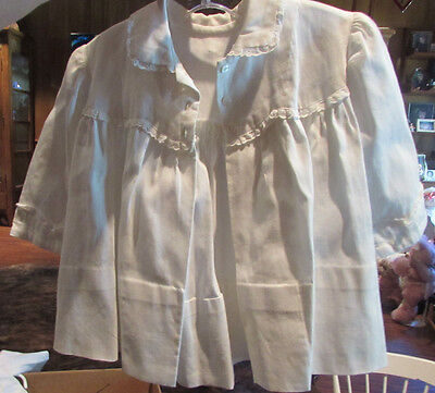 Antique White Vintage Baby  Jacket. Hand made. Great for  Dolls or Bears!