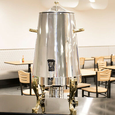 5 Gallon Deluxe Stainless Steel Coffee Chafer Urn Gold Catering Buffet Dispenser