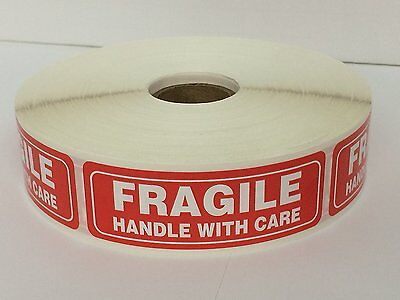 30 Rolls 30000 1 x 3 FRAGILE HANDLE WITH CARE Stickers (1000 Per Roll)