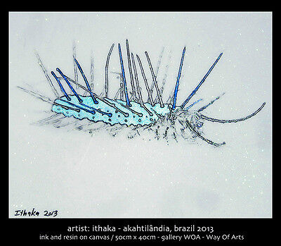Punk  Rock Caterpillar  Painting