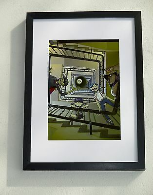Framed (A3) and mounted Gorillaz print (A4) - by Jamie Hewlett