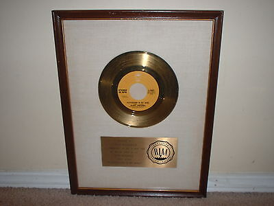 """Clint Holmes Riaa Gold Record Award White Matte 45  """"playground In My Mind"""""""