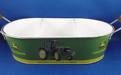JOHN DEERE Metal Tin Container 3-part Tray Insert Licensed Product Like New